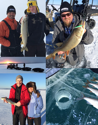 guided ice fishing in northern Michigan