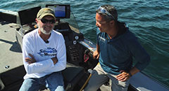Al Lindner - Fishing with Sport Fish Michigan,angling edge,coho salmon,al lindner,captain ben wolfe,sport fish michigan,tv appearances,vertical jigging