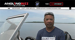 Ben Wolfe - AnglingBuzzTV Fishing Report - Early June 2018,fishing, smallmouth, bass, lake trout, cisco, salmon, michigan, lake michigan, grand traverse bay, anglingbuzz