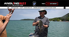 Ben Wolfe - AnglingBuzzTV Fishing Report - Mid-June,smallmouth bass, michigan, bass fishing, catching bass, fishing, tips, lures, bait, Lake Huron, Lake Michigan, Saginaw Bay, Grand Graverse Bay