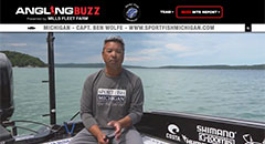 Ben Wolfe - AnglingBuzzTV Fishing Report - 3rd Week of June,fishing, michigan, walleye, saginaw bay, luddington, salmon, tips, techniques, anglingbuzz