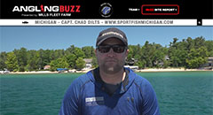 Chad Dilts - AnglingBuzzTV Fishing Report - Early July,lake trout, vertical jigging, salmon, michigan, fishing, tips, techniques