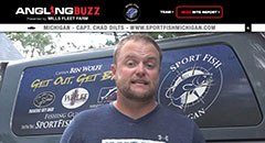 Chad Dilts - AnglingBuzzTV Fishing Report - Mid-July,fishing, salmon, lake trout, walleye, smallmouth bass, trolling, vertical jigging, anglingbuzz