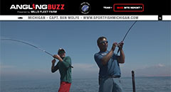 Ben Wolfe - AnglingBuzzTV Fishing Report - Late July,vertical jigging, salmon, lake trout, michigan, catching fish, fishing, grand traverse bays, traverse city, platte bay